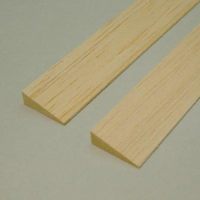 Balsa - Bordo di Uscita Asimmetrico mm.  3 x 15 x 1000