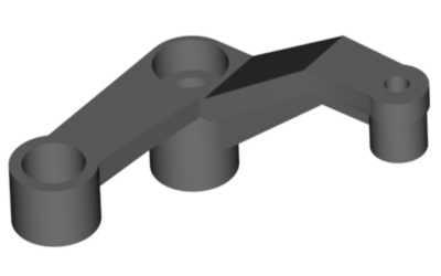 Tail rotor lever for ball bearing