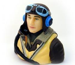 Pilota mezzo busto inglese II WW