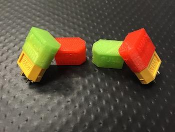 3DPrototyping - Cappucci Full/Empty per XT60 - ROSSO e VERDE
