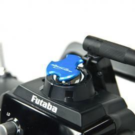 Tappo copri foro antenna V2 per TX FUTABA  e JR - DARK BLU