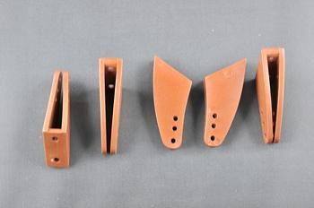 Squadretta parti mobili uniball MAXI BROWN - H = 33 mm.