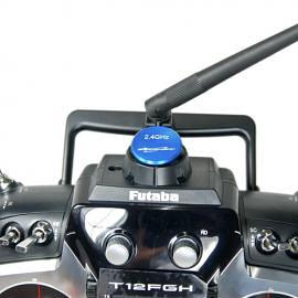 Tappo copri foro antenna V1 per TX FUTABA  e JR - BLU