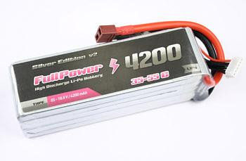 FullPower - Batteria Lipo 5S 4200mAh 35C Silver Edition V2 spina tipo DEANS