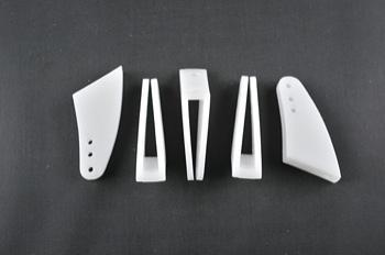 Squadretta parti mobili uniball MAXI WHITE - H = 33 mm.