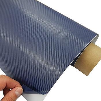 Pellicola adesiva finto carbonio antigraffio 127cm (Blue)