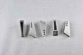 Squadretta parti mobili uniball BLACK - H = 25 mm.